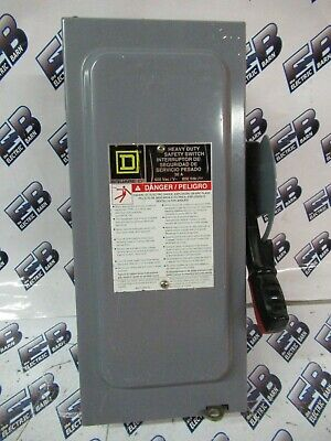Square D H361n Series F 30 Amp 600 Volt 3p4w Fusible Disconnect - New