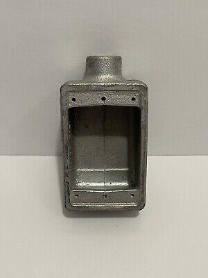 Fs-1 Crouse-hinds 12 1-gang 15.8 Cu. In. Cast Aluminum Receptacle Box