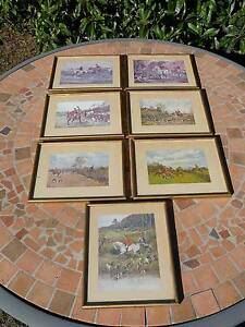 7 X COLLECTABLE HUNT SCENE PRINTS Sorell Sorell Area Preview