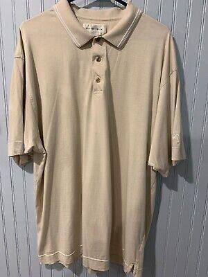 Cutter & Buck Men's 100% Pima Cotton Polo Shirt Short Sleeve XL-Tan W/ 3 Buttons