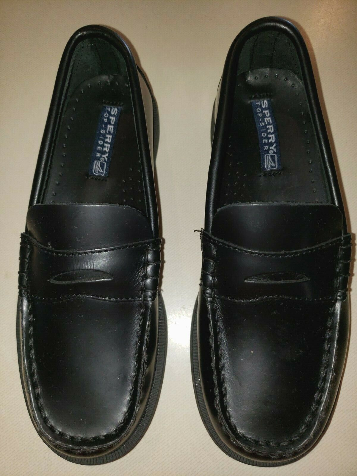 SPERRY boys NEW black PENNY LOAFERS SHOES size 1.5 1 1/2 CHU