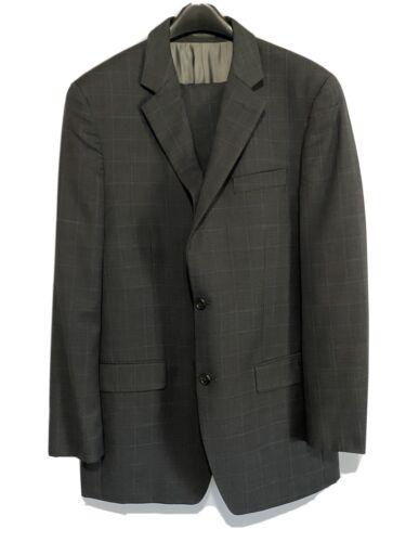 Michael Kors Men's 2 Piece Suit Charcoal Blue Jacket 40L Pants 34×32 Clothing, Shoes & Accessories