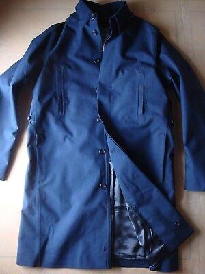 NEW Norwegian Rain Navy Single Breasted Raincoat (M) with Hood