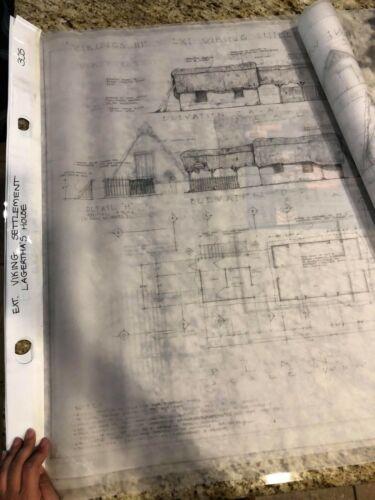 TV Show VIKINGS original PROPS blueprints - LAGERTHA'S HOUSE