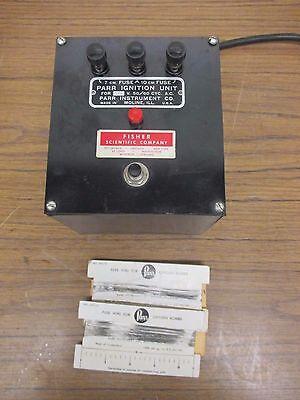 Vintage Parr Oxygen Ignition Unit 7cm 10cm 110115v With Fuse Wire