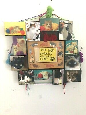 CAT ART COLLAGE PICTURE FRAME PRINT POSTER GIFT DECOR WALL DECORATION ZOOM IN 2C