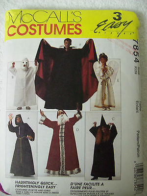 Monk Costume Pattern ( PATTERN McCall's #7854 COSTUMES VAMPIRE GHOST SANTA WITCH MONK ANGEL NEW)