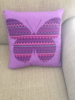 Purple Butterfly Cushions - Set of 4 Point Cook Wyndham Area Preview
