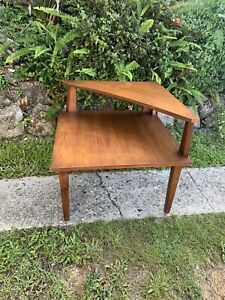 Mid century 2 tier coffee table, vintage coffee table, antique table