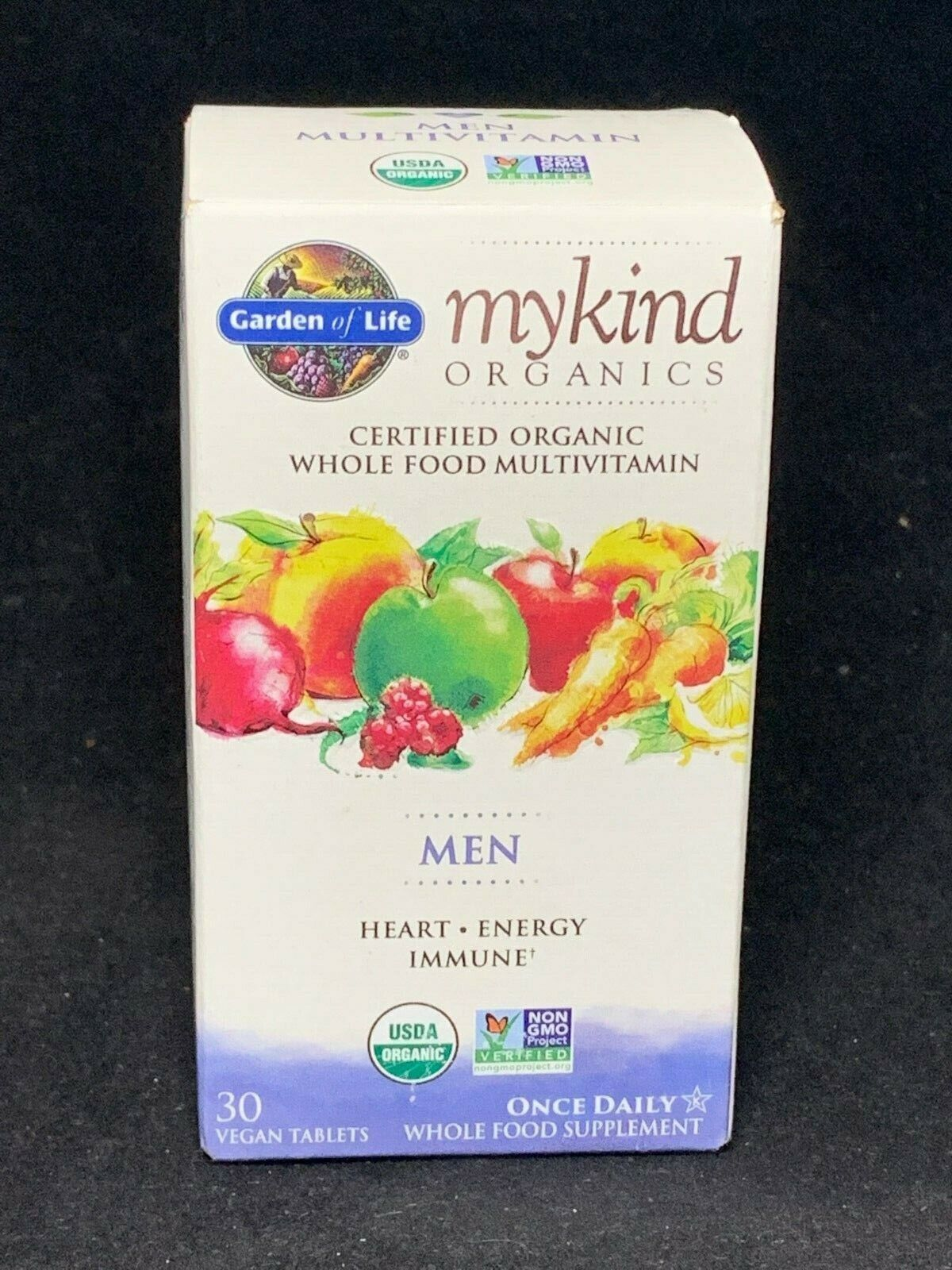 Garden of Life mykind Organics MEN Heart Energy Immune Multi
