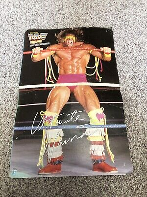 1991 HASBRO WWF WWE Ultimate Warrior Gear Costume CUT BOX Display ONLY See Pics* - Ultimate Warrior Costume
