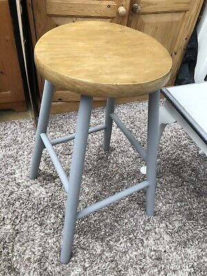 Elm Top Upcycled Kitchen Stool / Shabby Chic