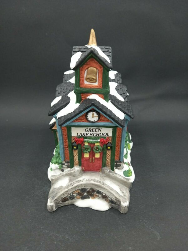 Grandeur Noel Green Lake School Replacement Piece Victorian Village No Lights