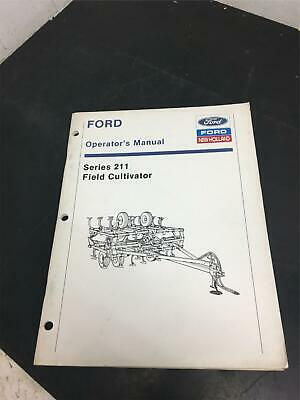 Ford Operators Manual Series 211 Field Cultivator Tractor Attachmentnew Holland