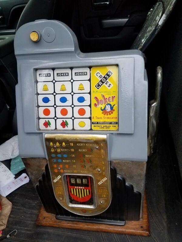 Vintage Joker Trade Stimulator EM Slot Machine P&M Lander Wyoming Parts
