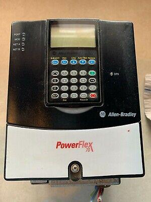 Allen Bradley Powerflex 70 Ac Drive 20ad8p0a0aynanco A Used