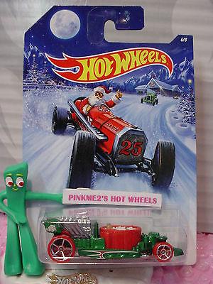 2014 Holiday Hot Rods #6/8 HOT TUB∞Green/Red❊Santa❊25∞Hot Wheels Walmart Excl](Walmart Tubs)