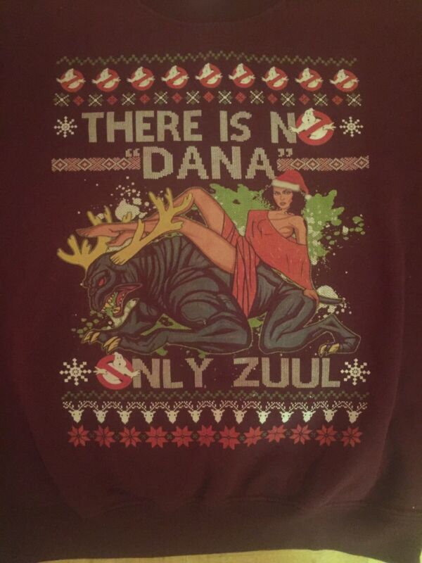 Ghostbusters There Is No Dana Only Zuul Christmas Sweatshirt Small S Very Rare
