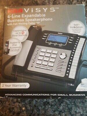 Rca Visys 4 Line Phone Expandable Business Speakerphone W Cordless Phone Used