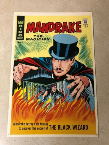 Mandrake the Magician #4 art approval cover proof 1967 BLACK WIZARD King