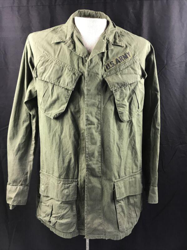 US Army Vietnam War Jungle Jacket  Small Long OG 107 1969 Rip Stop Coat