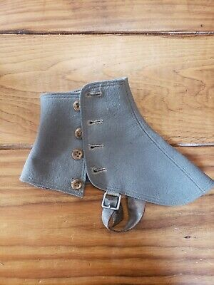 Spats, Gaiters, Puttees – Vintage Shoes Covers WWII WW2,  US Army Uniform Spats Boot Cover World War 4 Button $10.00 AT vintagedancer.com