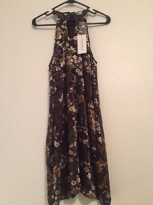 NWT Carolina Belle Montreal Women Brown Floral Dress, size 4 OBO - Belle Dress For Women