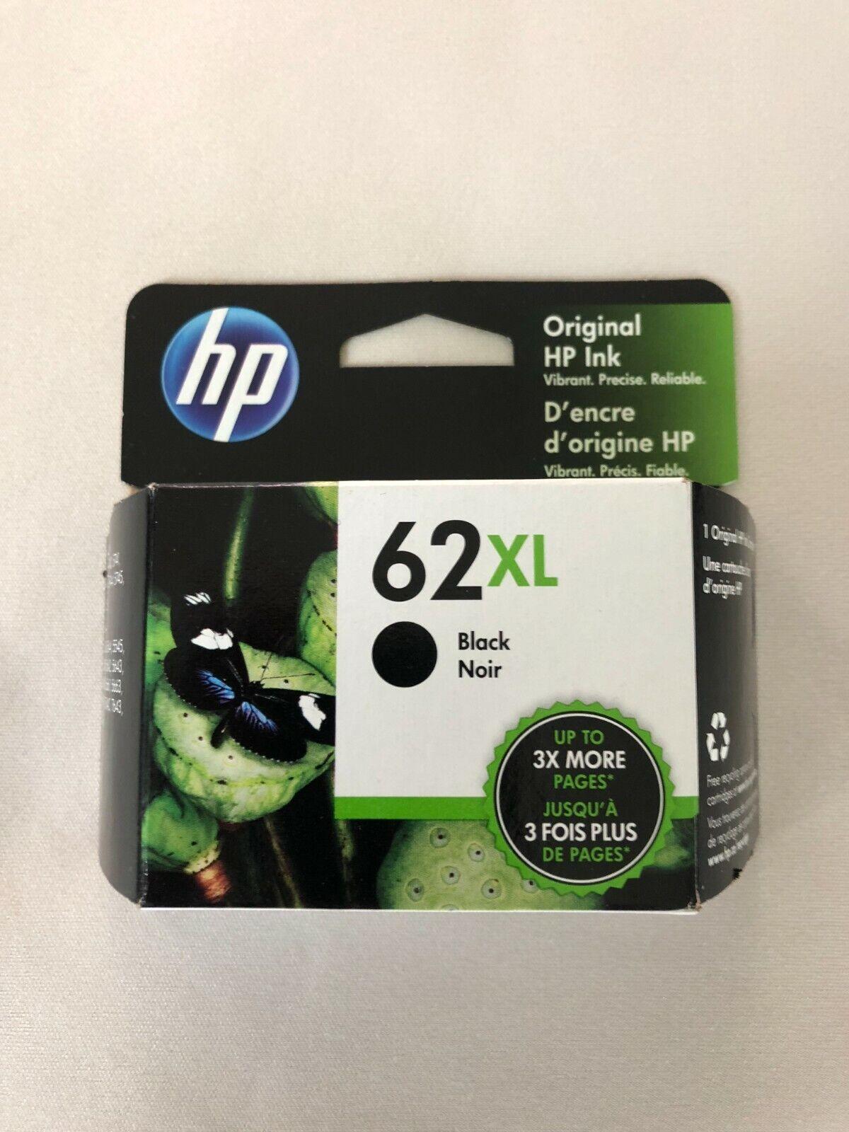HP 62XL Printer Ink Cartridge Black New in Box OEM
