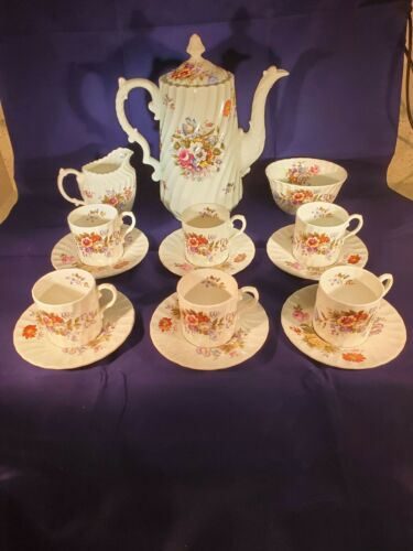 Aynsley Summertime Coffee Set 14 pcs incl Coffee Pot