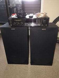 Sony amplifier and speakers