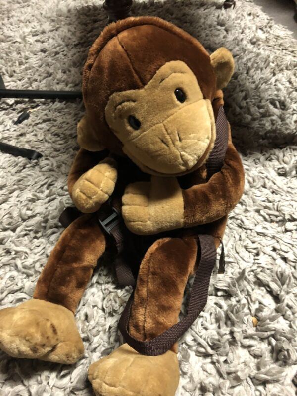 Vintage Curious George Plush Backpack /hand Puppet