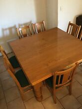 Solid Pine Table and 8 Chairs Heathridge Joondalup Area Preview