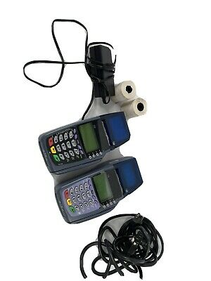 Verifone Omni 51003730vx510 Pos Credit Card Terminal With Power Adapter Lot 2