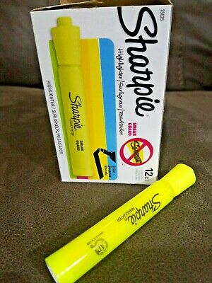 Sharpie 25025 Accent Tank-style Highlighter Fluorescent Yellow 12-pack