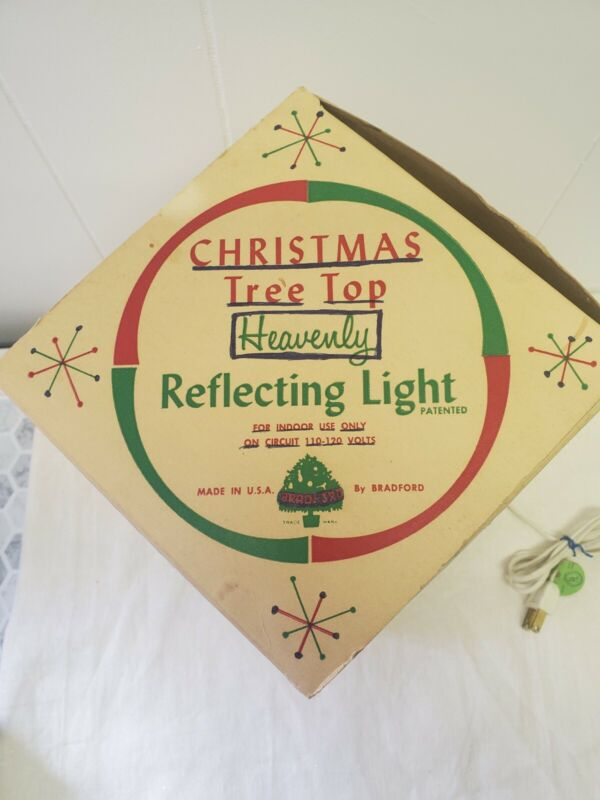Vintage Electrified Christmas Tree Top Heavenly Reflecting Light Bradford No. 20