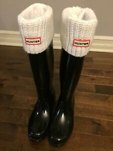 Sold PPU - Hunter Boots with Socks - size 8