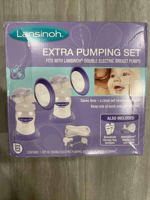 New in Box Sealed LANSINOH Extra Pumping Set for Double Electric Breast Pump