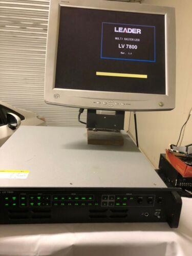 Leader LV7800 LV 7800 3G/HD/SDI Multi Rasterizer