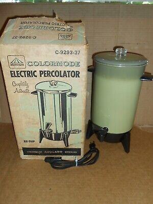 vintage 1969 colormode avocado electric coffee pot percolator IOB kitchen 22 cup