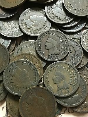 Ancient 1800's To 1899 Indian Cents Collection - Three Extremely Old Cents -