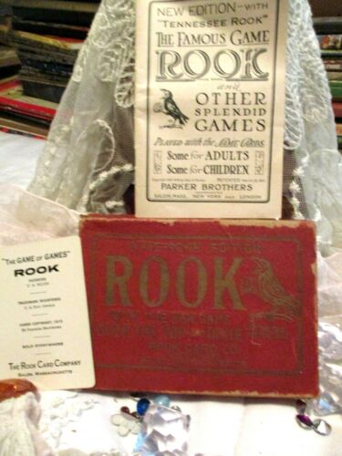 ANTIQUE GAME DIXIE ROOK EDITION 1919 THE GAME IS COMPLETE GEO S.PARKER L@@K!!