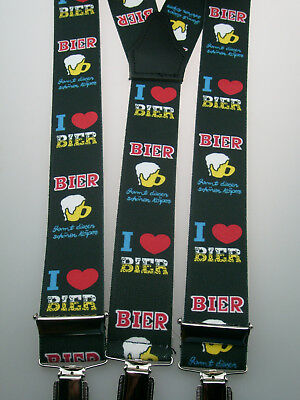 extra starke Y-Form Hosenträger 35 mm breit Bier 3 starke Clips