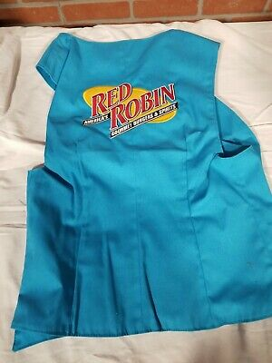 Red Robin Resteraunt Vintage Mascot Vest NEW in Package