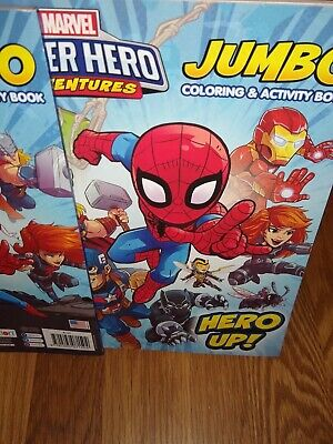 Marvel Super Hero Up Adventures Coloring Activity Book Spider-man Hulk Thor
