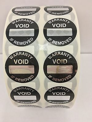 100 Labels 1 Round Warranty Void Box Space Security Tamper Proof Seal Stickers