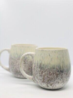 Dunelm Reactive Glaze Mug Cup Snowstorm Set