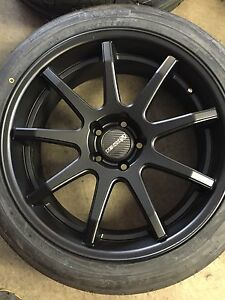 """19"""" TENZO R WHEELS AND NEW NITTO TIRES 225/45/19 255/40/19"""