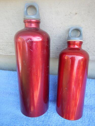 2 Vintage Sigg Fuel Stove Bottles Bottle Red Backpacking Camping