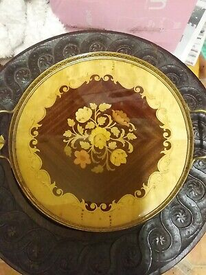 Marquetry round  Tray