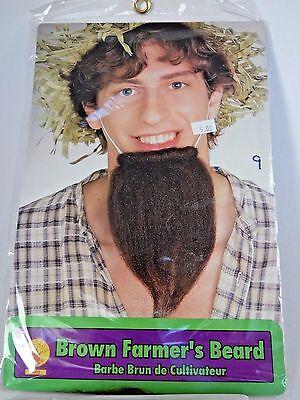 Brown Farmer's Beard Hair Disguise Stage Character Costume Halloween Rubies - Bearded Characters Halloween